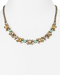 Sorrelli Swarovski Crystal Classic Collar Necklace 16 Multi Gold