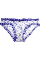 Heidi Klum Intimates Embrasse La Ruched Silk Chiffon Briefs