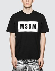 Msgm Box Logo S S T Shirt