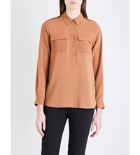 French Connection Pippa Plains Georgette Shirt Terra Tan