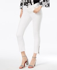 Inc International Concepts Step Hem Skinny Jeans Created For Macy's Washed White