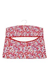 Flowers Of Liberty Floral Print Peg Bag Red Wiltshire
