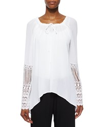 Xcvi St. Barts Tunic W Crochet Sleeves Black