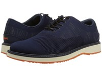 Swims Barry Oxford Knit Navy Melange Orange Shoes
