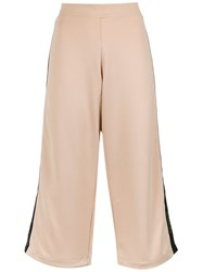 Olympiah X Silvia Braz Wide Leg Cropped Trousers Nude And Neutrals