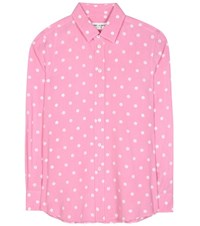 Saint Laurent Polka Dot Blouse Pink