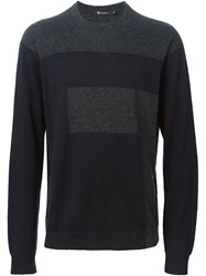 T By Alexander Wang Colour Block Sweater Grey