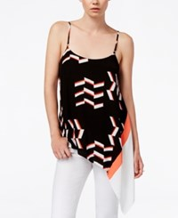 Rachel Rachel Roy Printed Sleeveless Top Black Combo