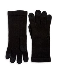 Miscellaneous Wool Blend Knit Touch Gloves Black