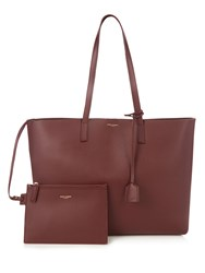 Saint Laurent Large Classic Leather Tote Burgundy
