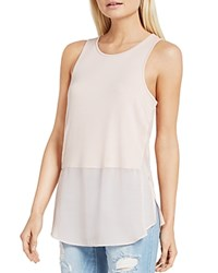 Bcbgeneration Mixed Media Racerback Tunic Top Rose Smoke