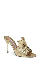 Brian Atwood Sandy Sandal Gold Foil Metallic