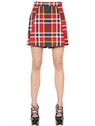 Vivienne Westwood Plaid Washed Cotton And Wool Skort