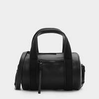 Charles And Keith Cylindrical Duffel Bag Black