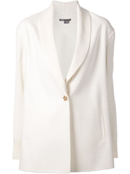 Vince Knitted Blazer White