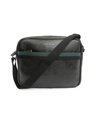 Ted Baker Black Stripes Pu Messenger Bag