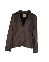 Ottod'ame Suits And Jackets Blazers Women Dark Brown