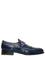 Harris Handmade Studded Leather Loafers Blue