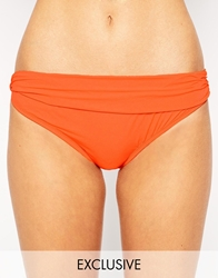 Asos Fuller Bust Exclusive Marilyn Bikini Pant Orange