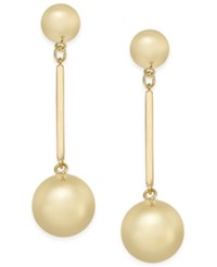 Kate Spade New York Ring It Up Gold Tone Bauble Drop Earrings