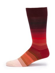 Paul Smith Striped Dress Socks Red Grey Blue