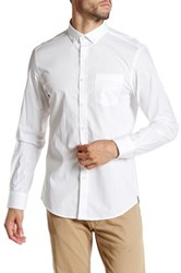 Kenneth Cole Solid Button Up Shirt White