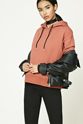 Forever 21 Contrast Drawstring Hoodie