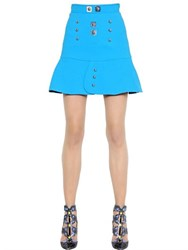 Peter Pilotto Studded Ruffled Crepe Skirt