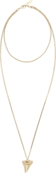 Givenchy Gold Shark Tooth Necklace