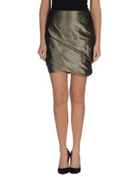 Pauw Knee Length Skirts Military Green