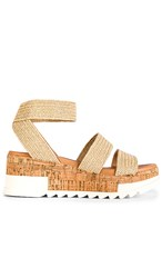Steve Madden Bandi Sandal In Tan. Natural Raffia