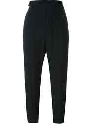 Rick Owens Cropped Trousers Black