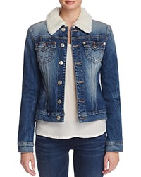 True Religion Western Dusty Denim Jacket In Dark Paper Bag Dk Paper B