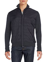 Saks Fifth Avenue Quilted Nylon Jacket Charcoal