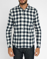 American Vintage Blue Checked Flannel Shirt