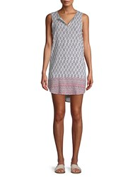Beach Lunch Lounge Graphic Hi Lo Dress Multi