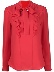 Mulberry Emmeline Georgette Blouse Red