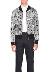 Thom Browne Radical Stitch Bomber In Abstract Floral