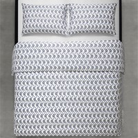 Calvin Klein Melissa Duvet Cover White Black And White