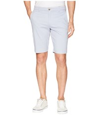 Ben Sherman Stretch Sueded Sateen Shorts Light Blue