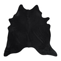 Amara Natural Cowhide Rug Black