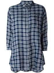 Woolrich Checked Shirt Blue