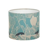 Orwell And Goode Night Woods Foxes In Blue Lampshade 10