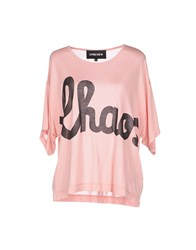 5Preview Topwear T Shirts Women Pastel Pink