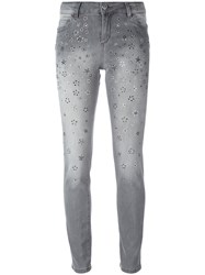 Twin Set Studded Skinny Jeans Grey