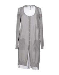 Liviana Conti Knitwear Cardigans Women Light Grey