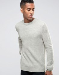 New Look Tuck Stitch Jumper In Silver Sterling Silver Grey
