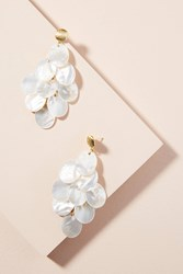 Anthropologie Mother Of Pearl Drop Earrings White