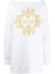 Versace Jeans Couture Oversized Sweatshirt White