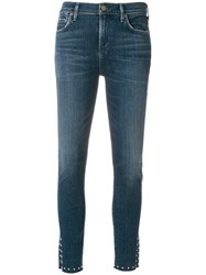 Citizens Of Humanity Slim Fit Notched Leg Jeans Blue